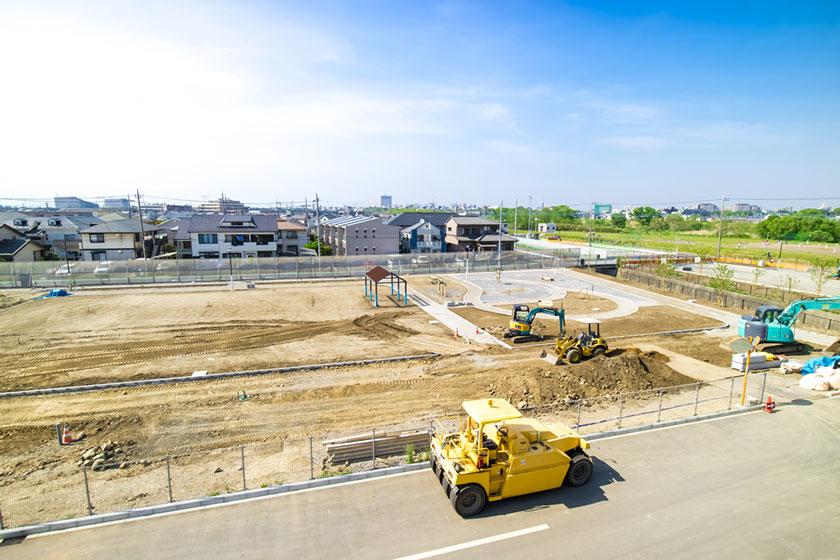 土地造成、擁壁、住宅の駐車場など、土木工事のことならお任せください。